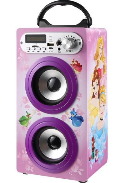 Volkano Disney Prensesler Bluetooth Hoparlör Karaoke Seti Lisanslı DY-10505-PR)