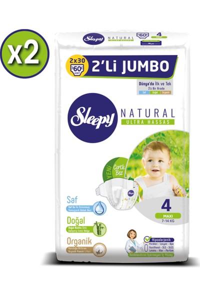 Sleepy Natural Bebek Bezi Ikili Jumbo 4 Numara 60X2 (120 Adet)