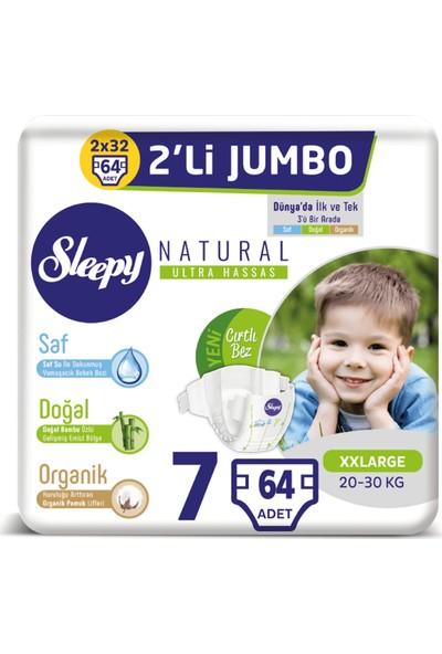 Sleepy Natural Bebek Bezi Ikili Jumbo 7 Numara 32X2 (64 Adet)