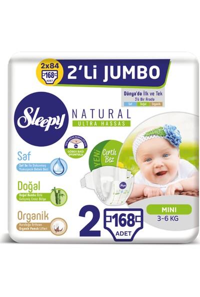 Sleepy Natural Bebek Bezi Ikili Jumbo 2 Numara 168 Adet