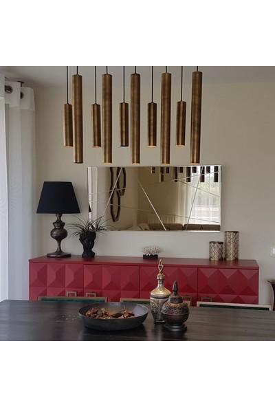 Neostill-Bronz Ayna Dekoratif Desenli Duvar Salon Boy A309-D