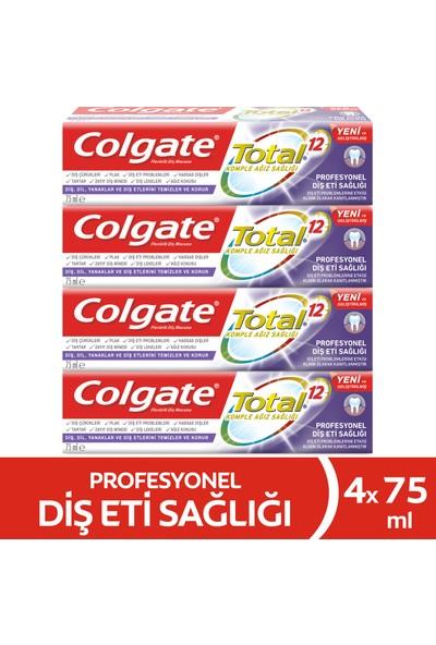 Colgate Total Profesyonel Diş Eti Sağlığı Diş Macunu 75 ml x 4 Adet