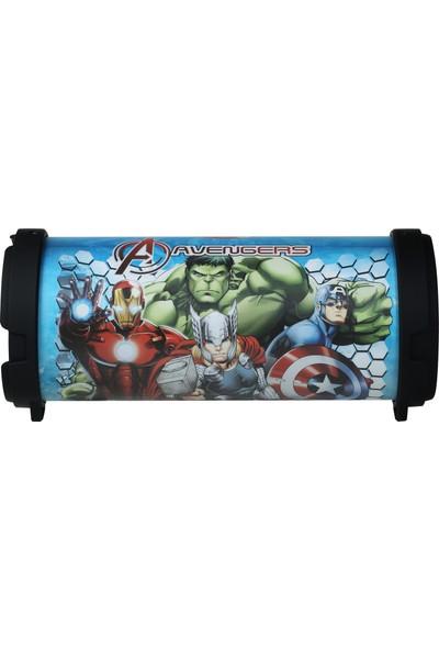 Volkano Marvel Avengers Yenilmezler Radyolu USBli Bluetooth Hoparlör Lisanslı MV-1003-AV1