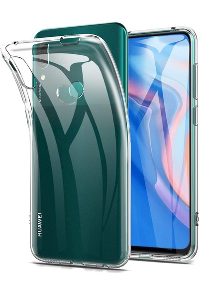 Teleplus Huawei Y9 Prime 2019 Kılıf Lüks Silikon Şeffaf + Nano Ekran Koruyucu