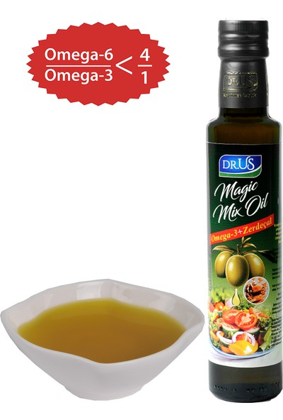 Dr.Us Magic Mix Oil Omega-3 + Zerdeçal Zeytin Yağı 250 ml