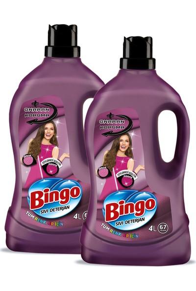 Bingo Onaran Koruma Sıvı Bakım Çamaşır Deterjanı 4 lt 2'li