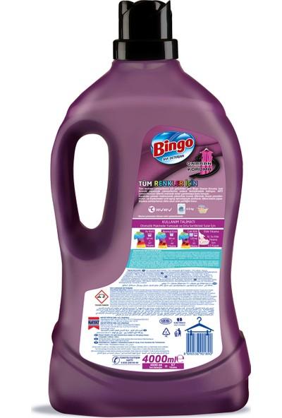 Bingo Onaran Koruma Sıvı Bakım Çamaşır Deterjanı 4 lt 4'lü