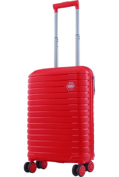 Ehs 10631 Policarbon 3'lü Valiz Seti Kırmızı