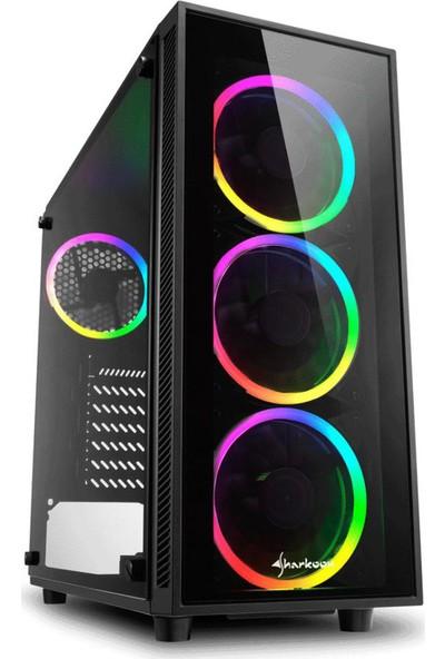 Sharkoon TG4 RGB USB 3.0 4x120mm Fanlı Temperli Cam Mid Tower Oyuncu Kasa