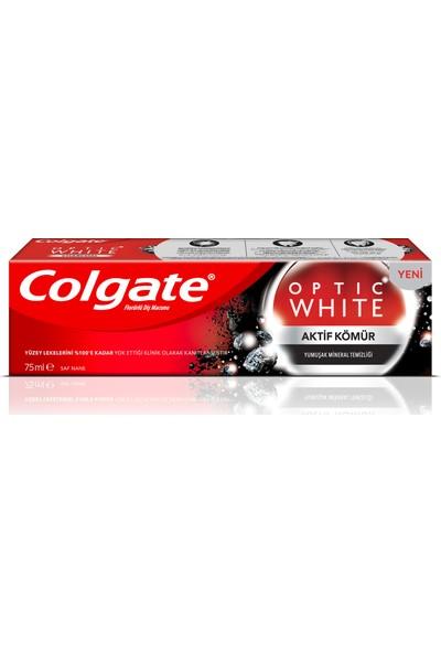 Colgate Optik Beyaz Aktif Kömür Beyazlatıcı Diş Macunu 75 ml