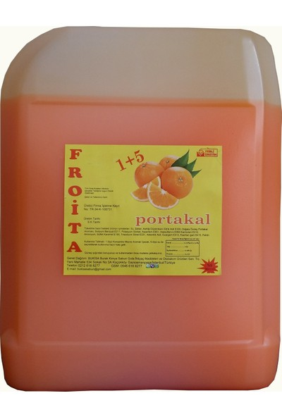 Froita 1+5 Konsantre Meyve Aromalı İçecek 5 Kg Nar + Portakal 2'li