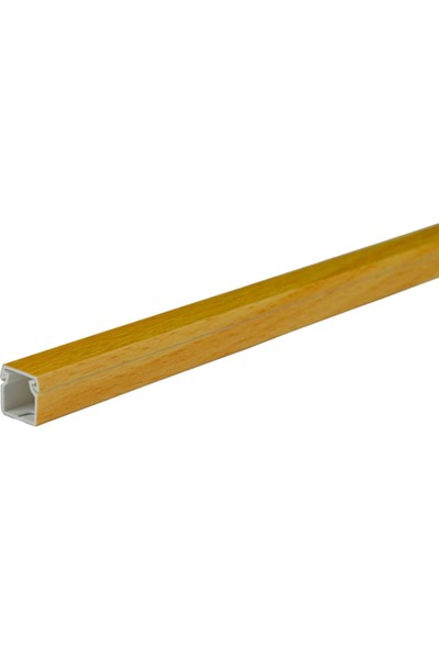 A Plus Elektrik 12x12 mm Güçlü Yapışkan Bantlı Lamine Kaplamalı Kayın 18x1,5m=27m Kablo Kanalı
