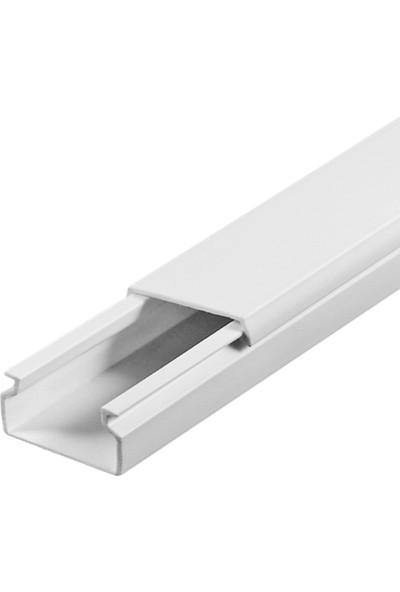 A Plus Elektrik 15x10 mm Beyaz 4x1m=4m Bantsız Kablo Kanalı