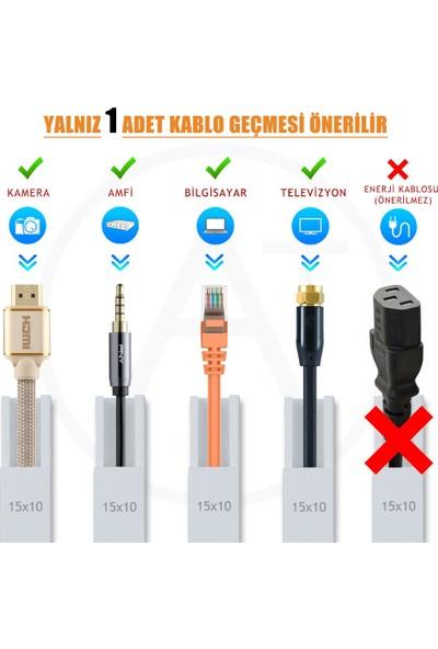A Plus Elektrik 15x10 mm Beyaz 170x2m=340m Bantsız Kablo Kanalı