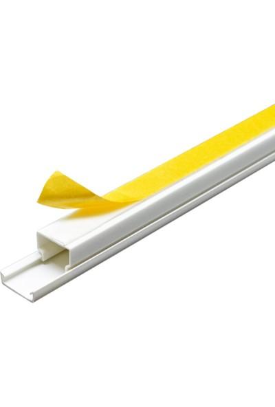 A Plus Elektrik 15x10 mm Güçlü Yapışkan Bantlı Beyaz 20x1,5m=30m Kablo Kanalı