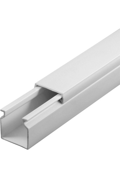 A Plus Elektrik 16x16 mm Beyaz 4x1m=4m Bantsız Kablo Kanalı