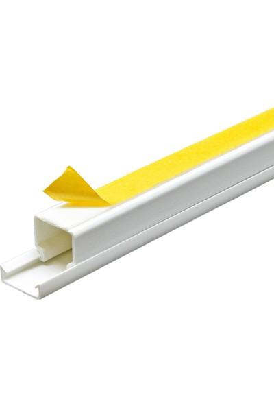 A Plus Elektrik 16x16 mm Güçlü Yapışkan Bantlı Beyaz 10x1,5m=15m Kablo Kanalı