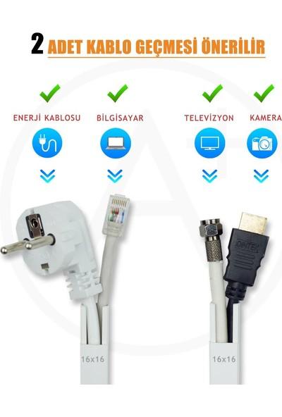A Plus Elektrik 16x16 mm Güçlü Yapışkan Bantlı Beyaz 12x1,5m=18m Kablo Kanalı