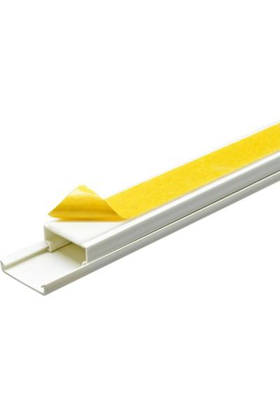 A Plus Elektrik 20x10 mm Güçlü Yapışkan Bantlı Beyaz 120x2m=240m Kablo Kanalı