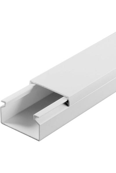 A Plus Elektrik 25x16 mm Beyaz 2x1m=2m Bantsız Kablo Kanalı