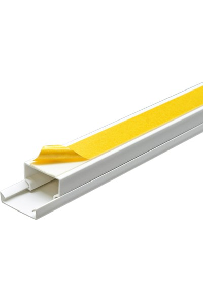 A Plus Elektrik 25x16 mm Güçlü Yapışkan Bantlı Beyaz 84x2m=168m Kablo Kanalı