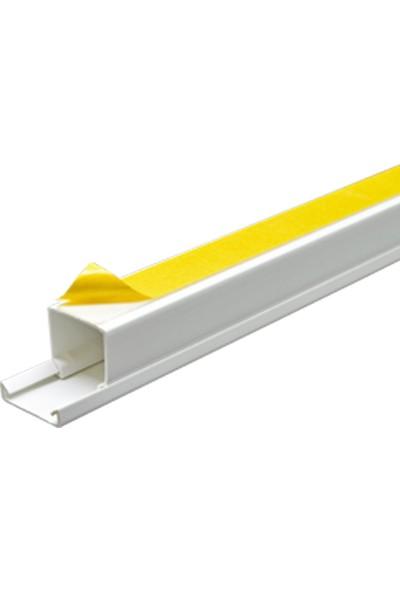 A Plus Elektrik 25x25 mm Güçlü Yapışkan Bantlı Beyaz 2x1m=2m Kablo Kanalı