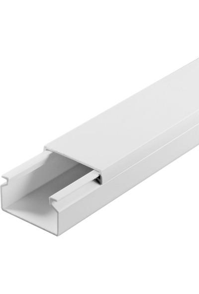 A Plus Elektrik 30x20 mm Beyaz 8x1m=8m Bantsız Kablo Kanalı