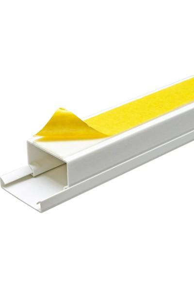 A Plus Elektrik 30x20 mm Güçlü Yapışkan Bantlı Beyaz 2x1m=2m Kablo Kanalı