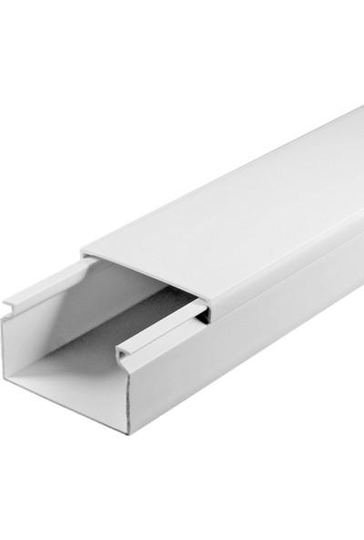 A Plus Elektrik 40x16 mm Beyaz 4x1m=4m Bantsız Kablo Kanalı
