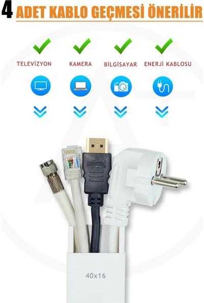 A Plus Elektrik 40x16 mm Güçlü Yapışkan Bantlı Beyaz 2x1m=2m Kablo Kanalı