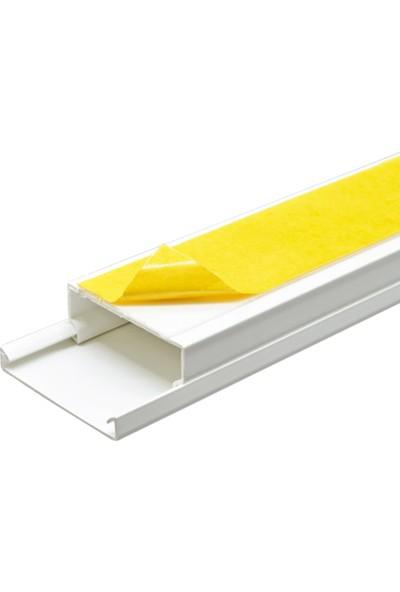 A Plus Elektrik 40x16 mm Güçlü Yapışkan Bantlı Beyaz 49x2m=98m Kablo Kanalı