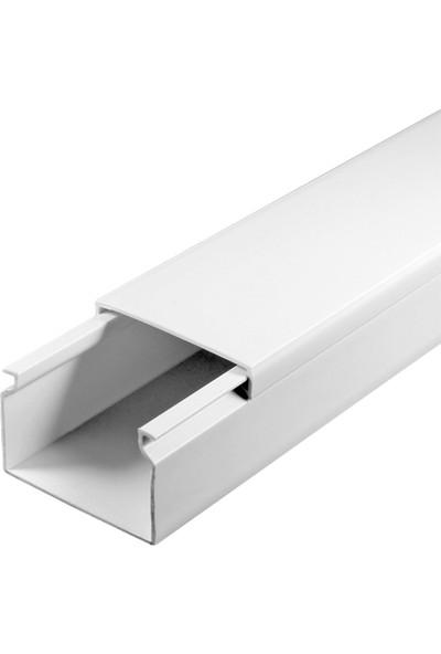 A Plus Elektrik 40x25 mm Beyaz 2x1m=2m Bantsız Kablo Kanalı