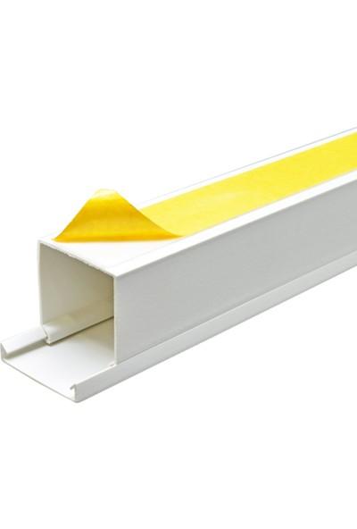 A Plus Elektrik 40x40 mm Güçlü Yapışkan Bantlı Beyaz 2x1m=2m Kablo Kanalı