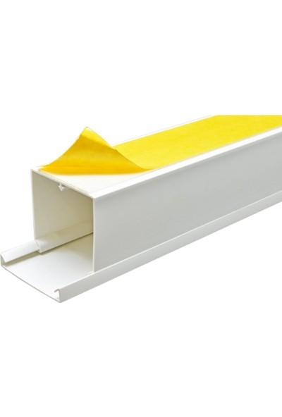 A Plus Elektrik 50x50 mm Güçlü Yapışkan Bantlı Beyaz 8x1,5m=12m Kablo Kanalı