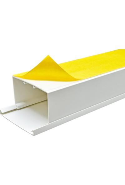 A Plus Elektrik 60x40 mm Güçlü Yapışkan Bantlı Beyaz 2x1m=2m Kablo Kanalı