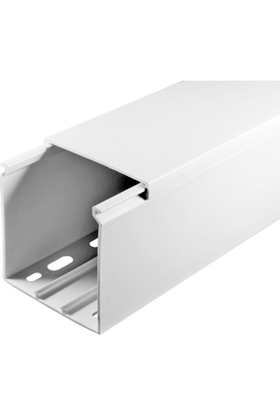 A Plus Elektrik 60x60 mm Beyaz 2x1m=2m Bantsız Kablo Kanalı