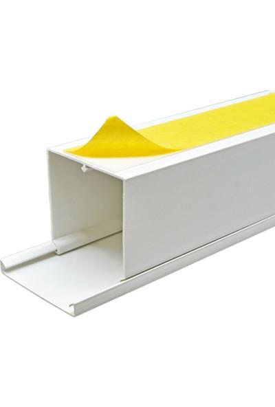 A Plus Elektrik 60x60 mm Güçlü Yapışkan Bantlı Beyaz 8x1,5m=12m Kablo Kanalı