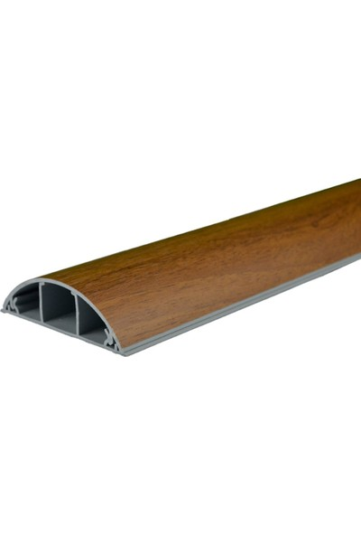 A Plus Elektrik 70x20 mm Balık Sırtı Güçlü Yapışkan Bantlı Lamine Kaplamalı Ceviz 2x1m=2m Kablo Kanalı