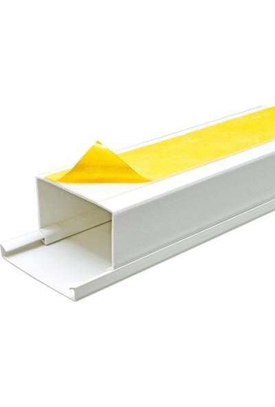 A Plus Elektrik 75x50 mm Güçlü Yapışkan Bantlı Beyaz 6x1,5m=9m Kablo Kanalı