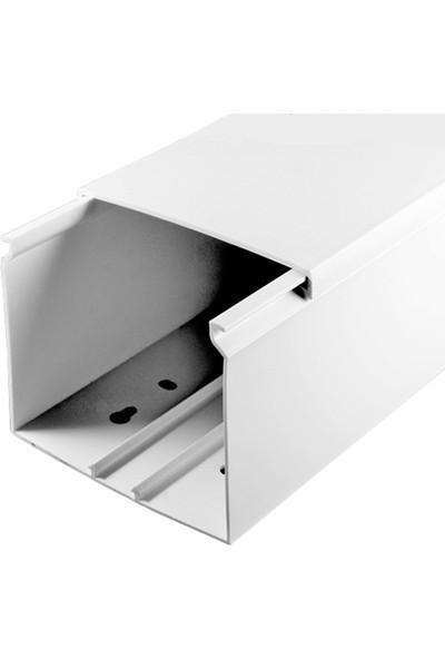 A Plus Elektrik 80x60 mm Beyaz 2x1m=2m Bantsız Kablo Kanalı