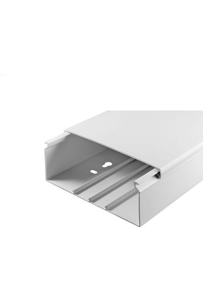 A Plus Elektrik 100x40 mm Beyaz 4x1,5m=6m Bantsız Kablo Kanalı