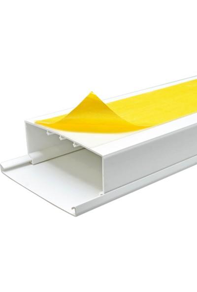 A Plus Elektrik 100x40 mm Güçlü Yapışkan Bantlı Beyaz 2x1m=2m Kablo Kanalı
