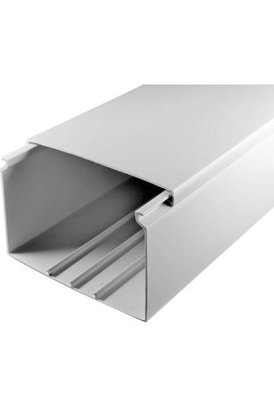 A Plus Elektrik 120x60 mm Beyaz 2x1m=2m Bantsız Kablo Kanalı