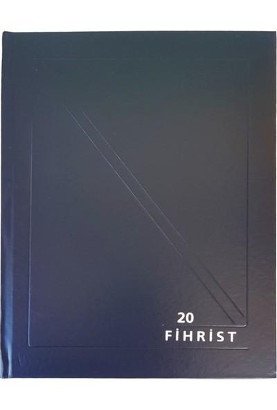 Gürpaş Ticari Fihrist 20'li 20X28 Cilt Bezli Mavi