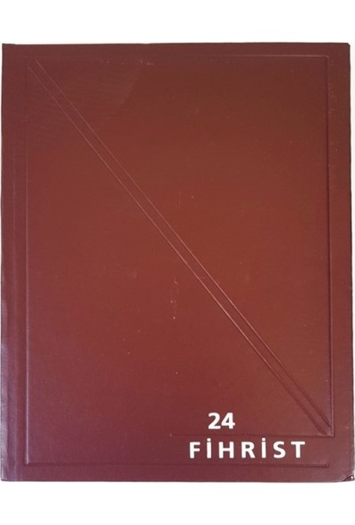Gürpaş Ticari Fihrist 24'lü 17X24 Cilt Bezli Kırmızı