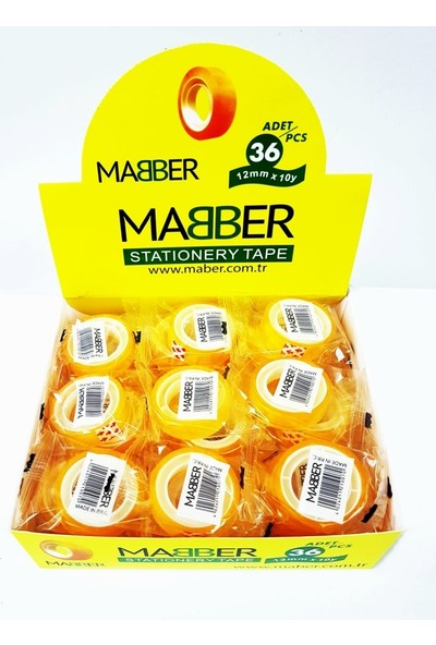 Mabber Para Bandı 12MMX10MT 36'lı Paket
