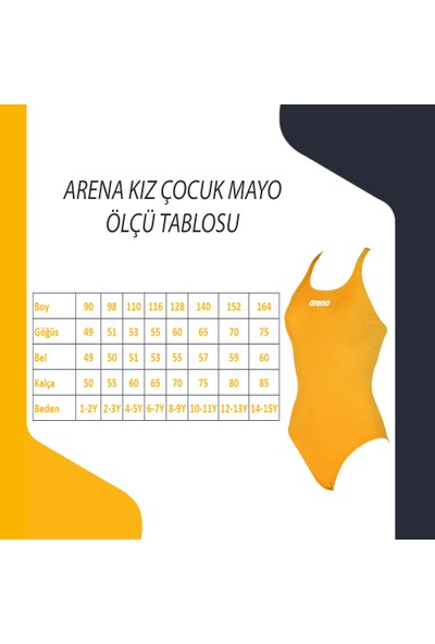 Arena 2A42830 Oleg Kız Çocuk Yüzücü Mayo