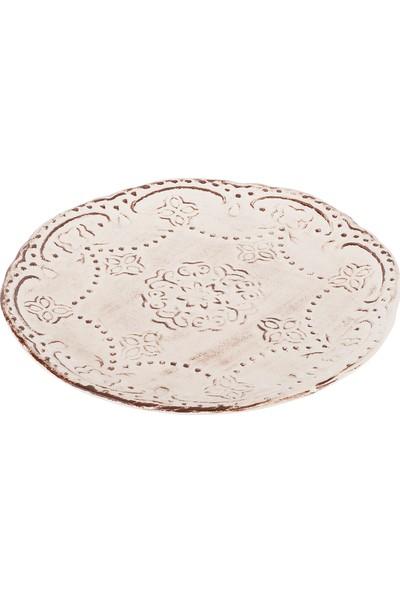 Tantitoni Seramik 6Lı Romance Yuvarlak Pasta Tabağı