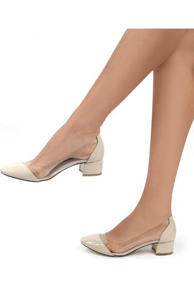 Gökhan Talay Chain Bej Rengi Kısa Topuklu Ayakkabı