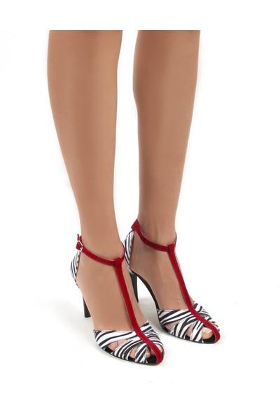 Gökhan Talay Princess Zebra Desenli Tay Tüyü Kadın Ayakkabı